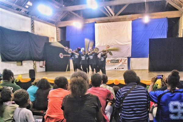 Stages of Change is a project that aims to use community theatre as a vehicle for reducing violence against women and increasing women's participation in civil society and peace-making in the Solomon Islands.