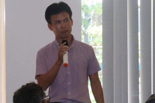 Participant, Eagon Pacific Limited Manager, Mr Moon providing an update on his company's progress.