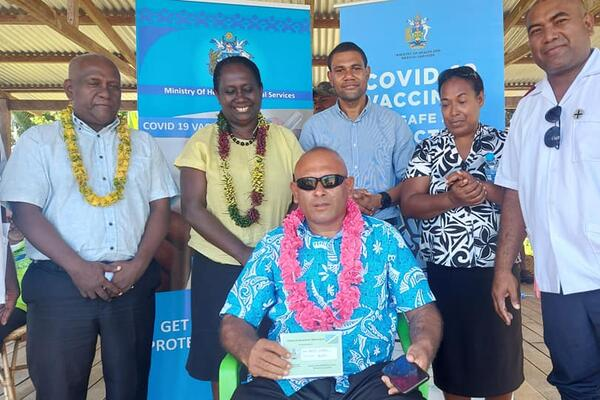 Premier of Isabel Province Hon. Leslie Kikolo informed the public in attendance that at the start of the pandemic, the people of Isabel have been adhering to COVID-19 public health measures as instructed by public health experts, including limiting travels outside of our borders.