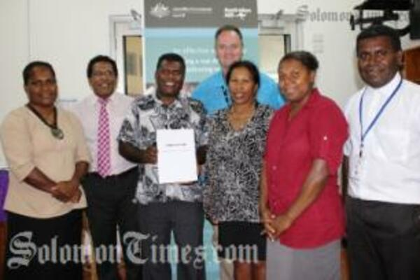 The development of the constitution follows the launch of the Solomon Islands - Australia scholarship alumni earlier this year and the formation of a six member executive steering group.