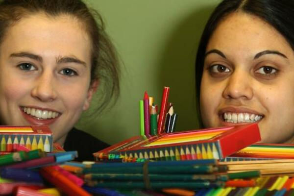 Students of Strathcona Baptist Girls' Grammar School in Australia have collected thousands of coloured pencils to donate to children at Florence Young Christian School and Gwauaoa Village Primary School in the Solomon Islands.