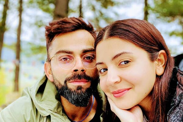 Anushka Sharma with her husband, Indian cricket captain Virat Kohli.