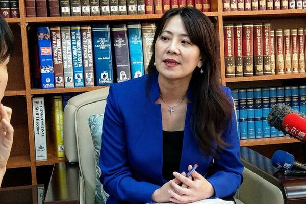 Taiwan's Foreign Ministry deputy spokesperson Joanne Ou.