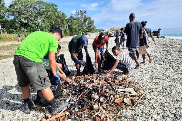 More than 100 countries come together each year to participate. In Solomon Islands this year's coastal clean-ups took place concurrently in both Munda and in Honiara.