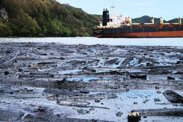 The owner of a Hong Kong bulk carrier that is spilling oil in the Solomon Islands has issued an apology over the environmental disaster.