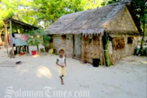 A typical coastal community in Solomon Islands.