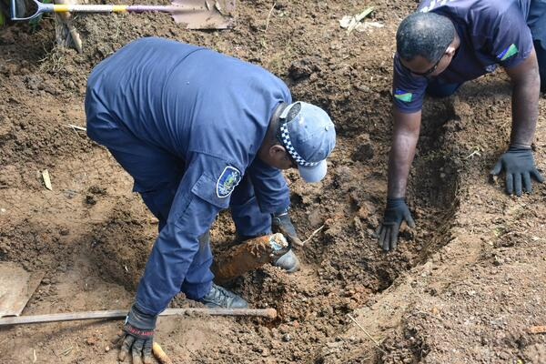 Recently, the Explosive Ordnance Disposal (EOD) removed 101 unexploded ordnance (UXOs) in a residential area in Honiara.