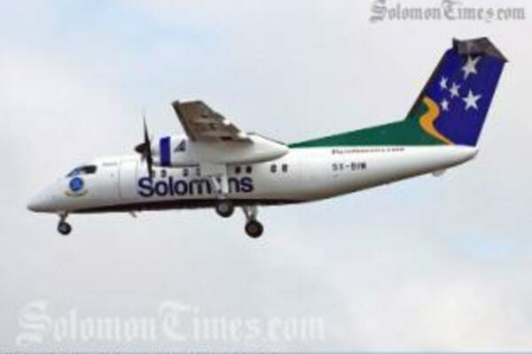 The arrival of Solomon Airline's own Dash 8 marked a significant event in the Airline's history.