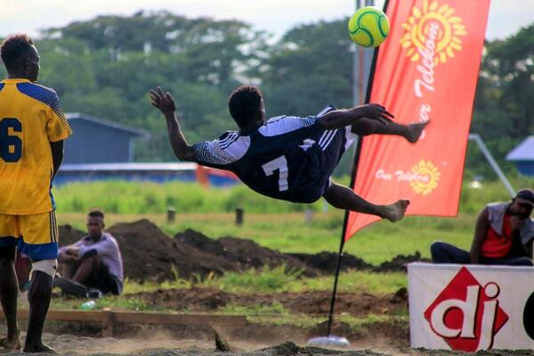 The National Invitational Beach Soccer Championship 2020 is exposing new talents, a promising outlook for beach soccer in Solomon Islands.