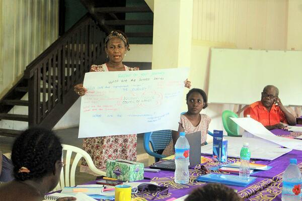 Oxfam Capacity Building Coordinator, Julia Cutforth at the workshop.
