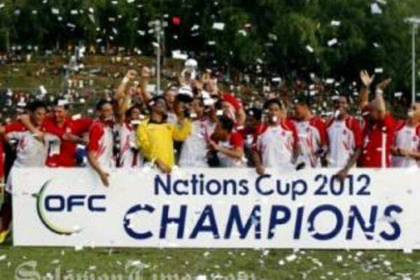 The historic triumph was made possible in the 10th minute when Steevy Chong Hue volleyed past New Caledonia goalkeeper Rocky Nyikeine.