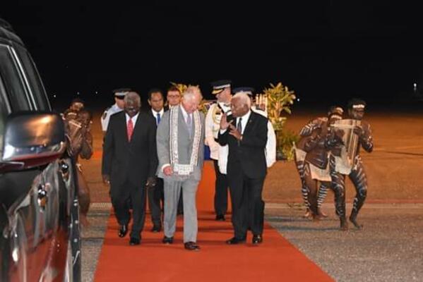 Prince Charles Arrives in Honiara