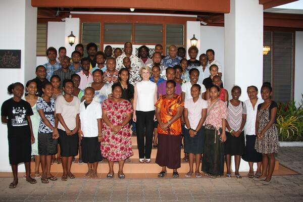 The awardees together with the Australian Foreign Minister, Julie Bishop.