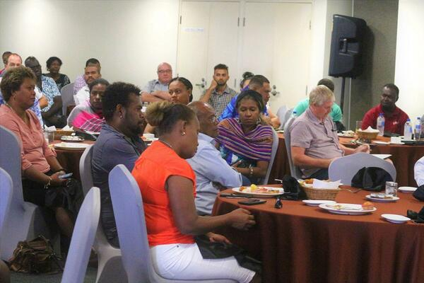 More than sixty (60) business representatives and members of the private sector attended the event to hear Permanent Secretary Dentana present an update on the implementation of the Solomon Islands Government's Economic Stimulus Package.