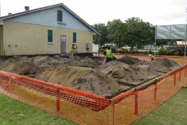 Renovations of Allan Boso complex in Honiara are underway.