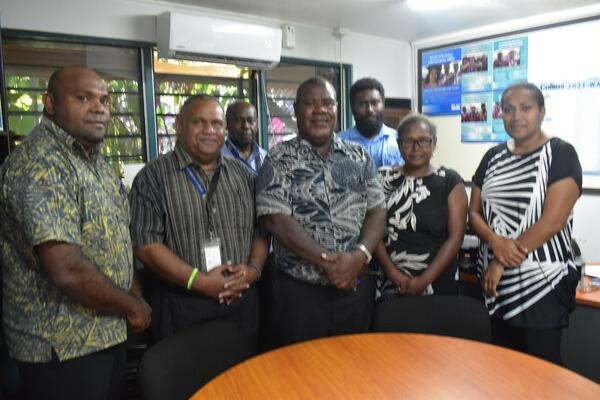 USP Center Director Dr. Billy Fito'o 3rd from Left with SIG Officials last week.