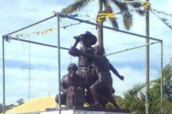 Pride of Our Nation monument was erected in Point Cruz.