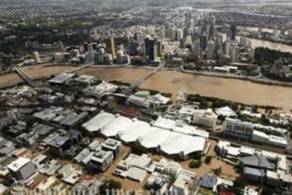 The flood looks to have peaked in Brisbane at 4.46m on January 13, below an expected level of 5.5m.