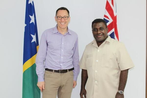 Parliamentary Secretary to Australian Foreign Minister, Senator Brett Mason and Prime Minister Lilo.