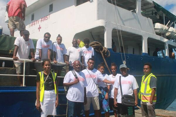 MV Florence was chartered for the electoral officials to Anuta and Tikopia Islands.
