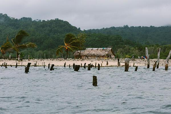 A graveyard of Homes in Walande, malaita Province, Solomon Islands.