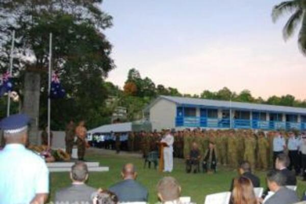 """Australian High Commissioner, Frank Ingruber, said that """"the Anzacs set standards that have inspired their countrymen for generations."""""""