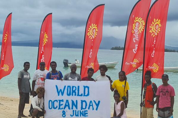 The four Solomon Islands companies and local Solomon Islands youths joined the global campaign via a beach and underwater clean up in the ocean around Munda.