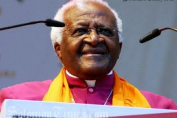 Nobel Peace Prize laureate Archbishop Desmond Tutu from South Africa will today arrive on a historic visit to the Solomon Islands.