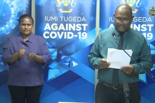 Dr. Culwick says the results of the COVID-19 tests were released just after 8pm today, and, to his relief, all frontliners tested returned negative.