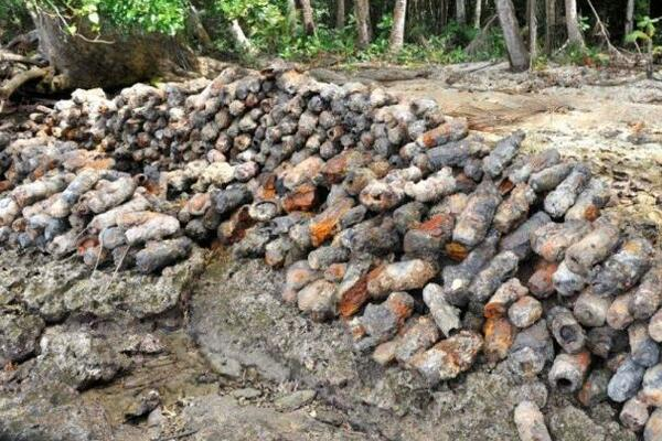 The Solomon Islands saw some of the fiercest fighting of World War II, so a great deal of unexploded ordnance still litters many of the islands to this day.