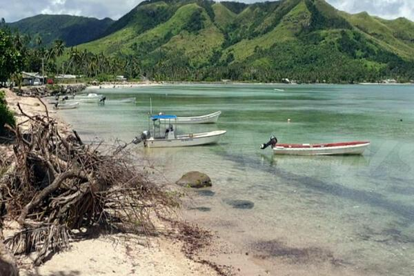 Kadavu, with an area of 411 square kilometres, is the fourth largest island in Fiji, and the largest island in the Kadavu Group, a volcanic archipelago consisting of Kadavu, Ono, Galoa and a number of smaller islands in the Great Astrolabe Reef.