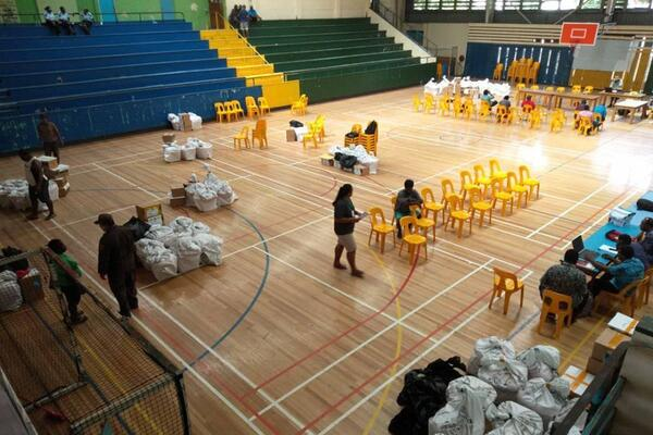 Counting for the HTC elections took place at the multipurpose hall.
