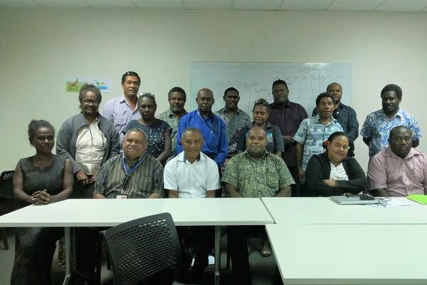 Senior Government Officials with the Permanent Secretary of the Ministry Education and Human Resources Department and Senior Ministry Officials.