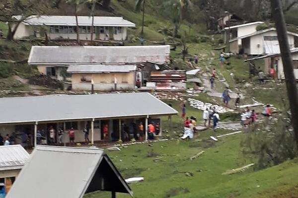 Part of Vunisea Secondary School on Kadavu Island was badly affected during the cyclone.