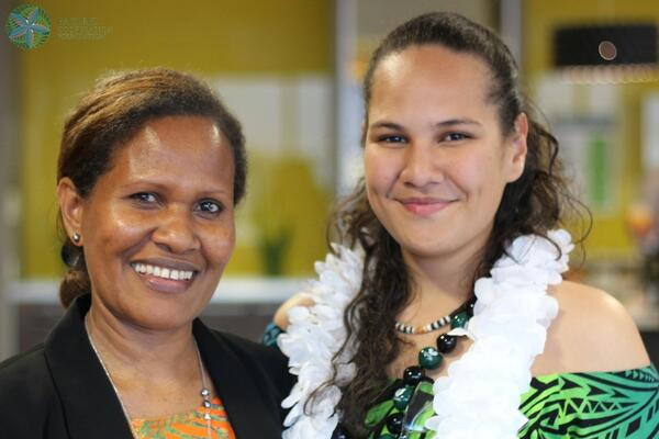 Lania, on the right with PCF Programme Development Manager Linda Kaua who also hails from the Solomon Islands.