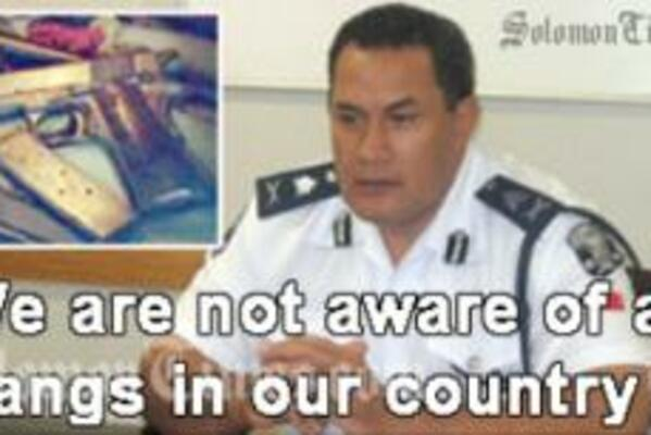 Samoa's Commissioner of Police, Papali'i Lorenese Neru. 