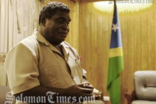 """Mr. Philip described the event as a """"momentous occasion"""" in his address to the landowners of East Malaita."""