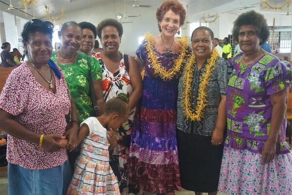 Pauline Firisua, second from right, with US Consul Keithie Saunders and supporters who attended her commissioning.
