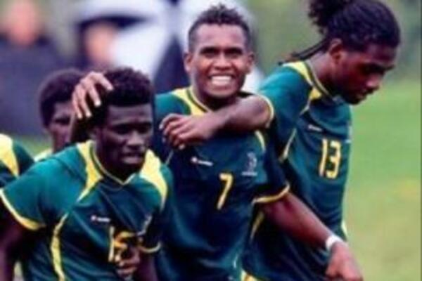 The Solomon Island players celebrate their shoot-out success (photo courtesy OFC).