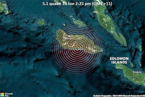 Based on early assessment no significant damage was caused by the quake, in Honiara or villages close to the epicenter.