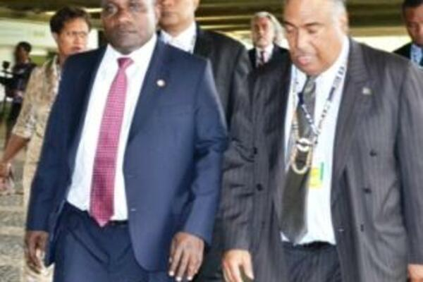 Prime Minister Lilo and the Solomon Islands Ambassador Beck, recently in Rio.
