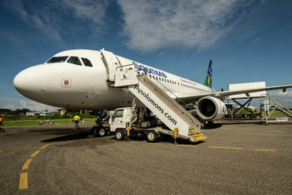 "New Airbus ""Spirit of the Solomons"" Arrives"