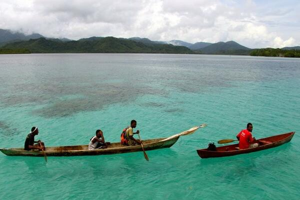 "The Solomon Islands have a population of 549,600. It is an example of the kind of event that could come to ""threaten the habitability of low-lying islands"" in the future, according to the Intergovernmental Panel on Climate Change report."