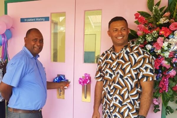 Health Minister Hon. Dr Culwick Togamana officially opens the CT scan building. Managing Director of Hatanga, Jay Bartlett, says it was a pleasure to have been given this assignment noting its importance towards the health of our people.