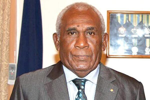 The Governor General of Solomon Islands, Sir Frank Kabui.