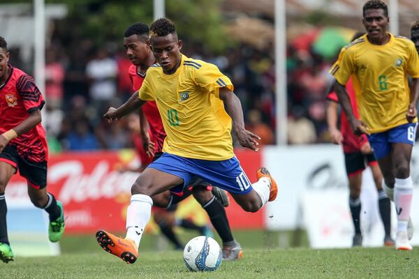 The breakthrough for Solomon Islands still arrived pretty early on as Raphael Le'ai marked his birthday with a perfect gift – the opening goal of the tournament for Solomon Islands and his first as an international footballer.