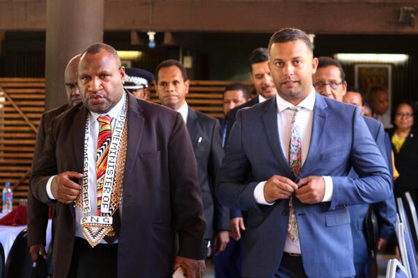 Papua New Guinea (PNG) Prime Minister Hon James Marape and SICCI Chairman, Mr. Jay Bartlett.
