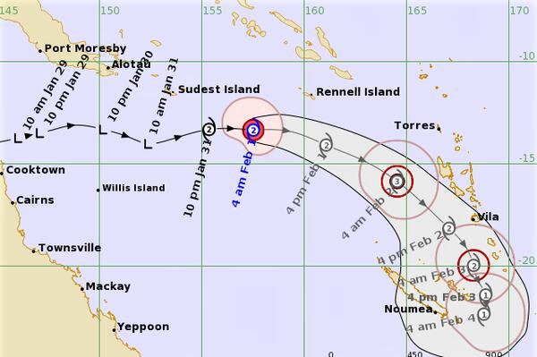Heavy rainfall and strong winds may develop today afternoon and evening, but is expected to subside as the system moves towards Vanuatu.
