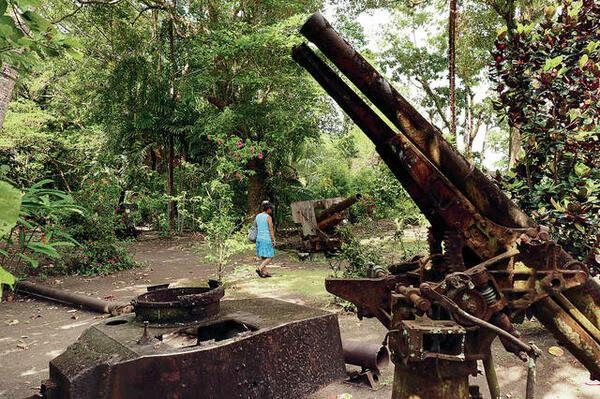 Vilu War Museum has an extraordinary collection of war artifacts that included remnants of fighter planes, tanks, howitzers and anti-aircraft guns nestled incongruously among the flowering shrubs.