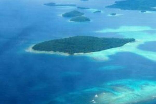 An Ariel shot of Fauro Island in the Shortland Islands.